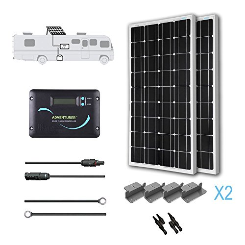 Renogy 200 Watts 12 Volts Monocrystalline Solar RV Kit with Adventurer by Renogy
