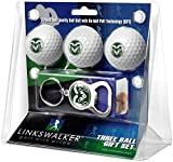 NCAA Colorado State Rams - 3 Ball Gift Pack with Key Chain Bottle Opener