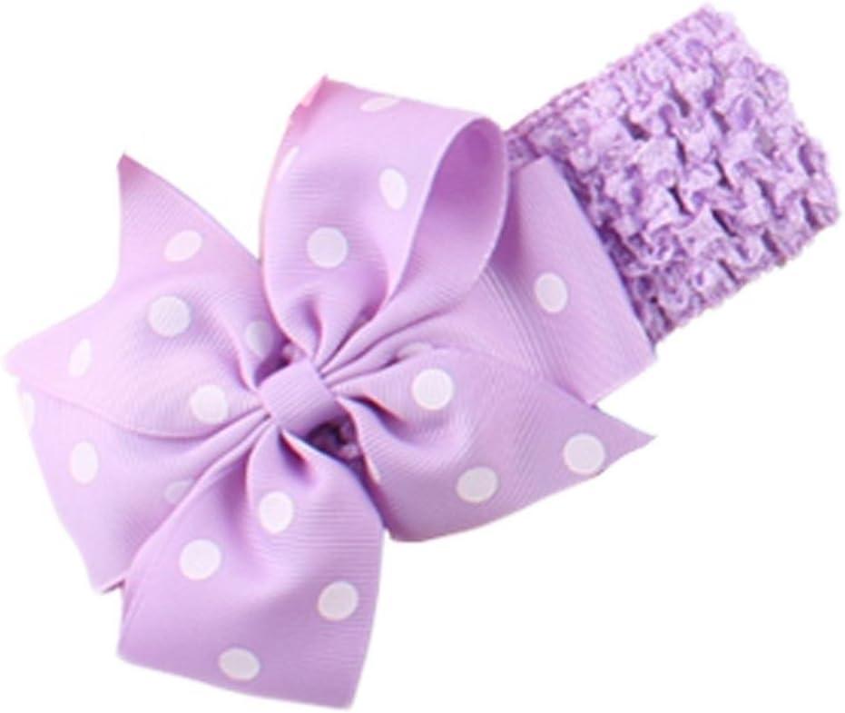 Handlife/® B/éb/é Bandeau Mignon Fille Point Vague Fleur N/œud /à deux boucles Cheveux Accessoires Pink