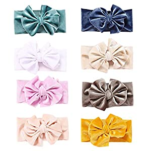 Baby Girl Nylon Headbands Newborn Infant Toddler Hairbands and Bows Child Hair Accessories (baby 0-8years, ST13)