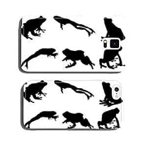 Black silhouettes of frog, vector cell phone cover case iPhone6 Plus