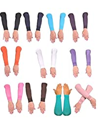 Lot 18 new Islamic Sleeves Gloves Arm Arms Stretch Stretchy Covers Muslim Hijab