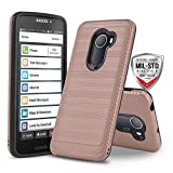 Phone Case for [Jitterbug Smart 2 (GreatCall)], [Modern Series][Rose Gold] Shockproof Dual Layer Hybrid Hard Cover [Defender] for Jitterbug Smart 2 (GreatCall) (Rose Gold)
