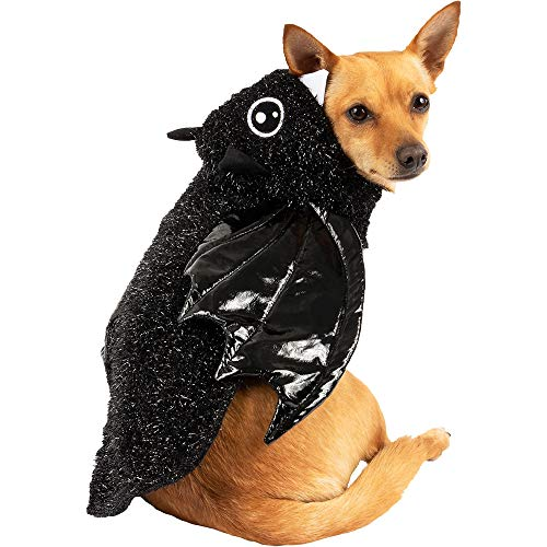MISSION PETS INC Black Bat Halloween Dog Costume, M/L, Fits Most Dogs 14-17in Neck-to-Tail Length