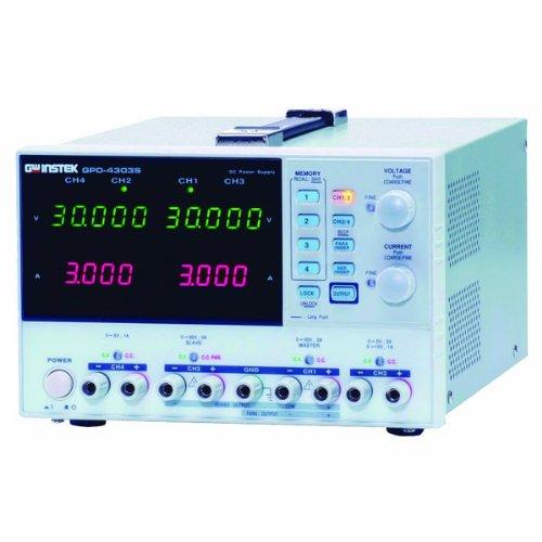 Instek GPD-4303S 200W Quadruple-Output Programmable Linear DC Power Supply, 30V DC, 3 Amp, 1mV, 1-milliamp Resolution