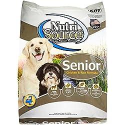 Tuffy'S Pet Food 131135 Nutrisource Senior Dog Chicken/Rice Food, 30-Pound