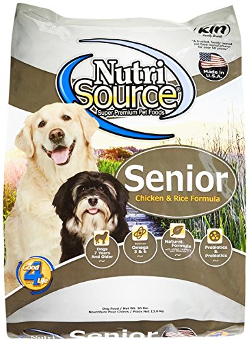 Tuffy'S Pet Food 131135 Nutrisource Senior Dog Chicken/Rice Food, 30-Pound