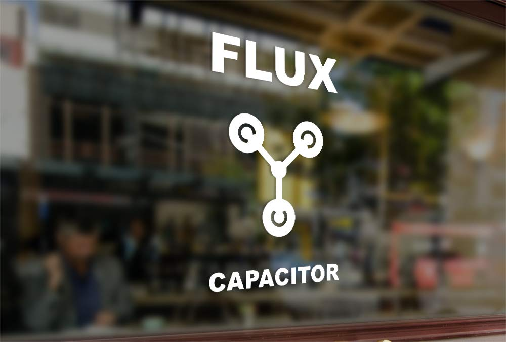 25 Centimeters Back to The Future Flux Capacitor Vinyl Stickers Funny Decals Bumper Car Auto Computer Laptop Wall Window Glass Skateboard Snowboard