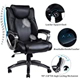 VANBOW Leather Memory Foam Office Chair Adjustable Lumbar Support Knob  Deal
