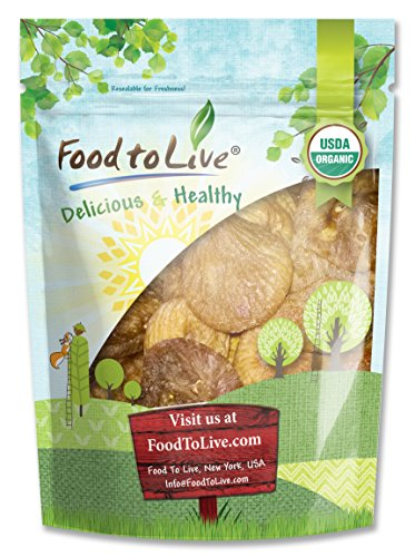 Food to Live Certified Organic Figs (Kosher) (2 Pounds)