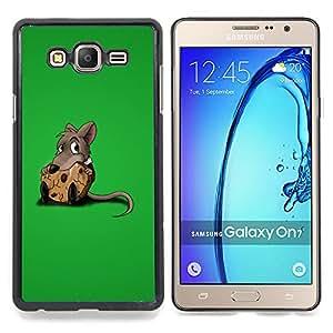 Queen Pattern - FOR Samsung Galaxy On7 G6000 - Rat Rodent Grey Cartoon Animation Cute Food - Cubierta del caso de impacto con el patr???¡¯???€????€???