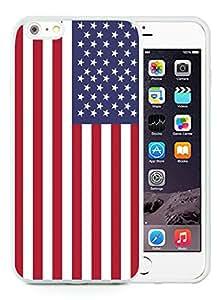 iPhone 6 Plus Case,American Flag 9 White For iPhone 6 Plus 5.5 Case