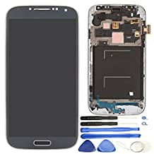 Comfine Original OEM Replacement for Samsung Galaxy S4 I337 M919 LCD Display Screen and Digitizer Touch Panel Assembly with Front Frame, Repair Tools + Samsung Logo, Black