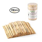 TONGYE Premium Natural BBQ Bamboo Skewers for Shish Kabob, Grill, Appetizer, Fruit, Corn, Chocolate Fountain, Cocktail and More Food, More Size Choices 4'/6'/8'/10'/12'