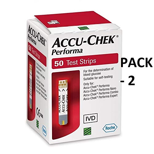 Performa Nano Test Strips Newest Release Very Long Expiration Dates, 50 Count (2 Pack) (Accu Chek Test Nano)