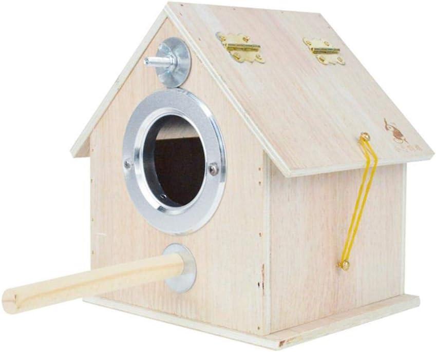 Xeroy Caja De Nido De Pájaros Casa De Pájaros, Nido De Cría De Madera, Caja De Cría De Pájaros para Periquito Periquito Cacatúa, Caja De Jaula De Pájaros