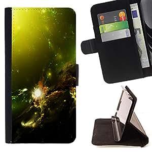 Jordan Colourful Shop - Green Space Galaxy For Sony Xperia Z2 D6502 - < Leather Case Absorci????n cubierta de la caja de alto impacto > -