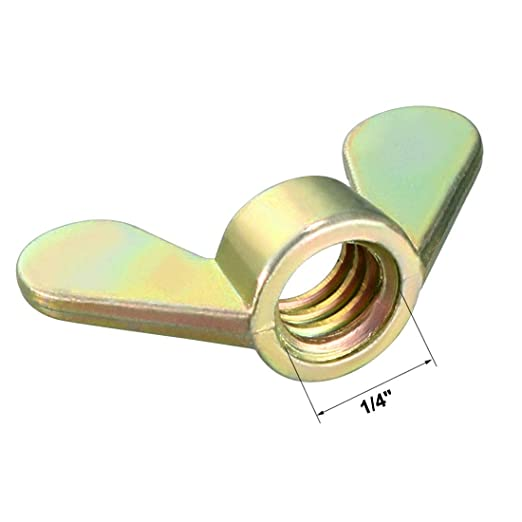 1//4 inch Butterfly Nuts Galvanized Fasteners Parts Butterfly nut Bronze Tone 20 Pieces
