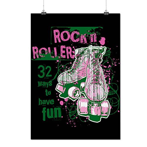 Rock and Rollers Fun Skate Shoes Matte/Glossy Poster - Sketches Skate Shoes