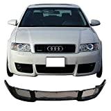 Front Bumper Lip Fits 2002-2004 Audi A4 B6 | V-style Poly Urethane PU Guard Protection Finisher Under Chin Spoiler by IKON MOTORSPORTS | 2003