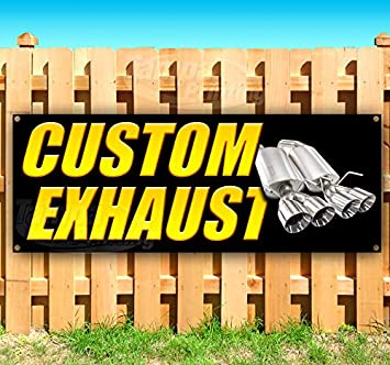 New Flag, Advertising Store Custom Exhaust 13 oz Heavy Duty Vinyl Banner Sign with Metal Grommets Many Sizes Available