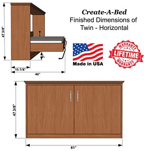 Twin Size Deluxe Murphy Bed Kit Horizontal Buy Online