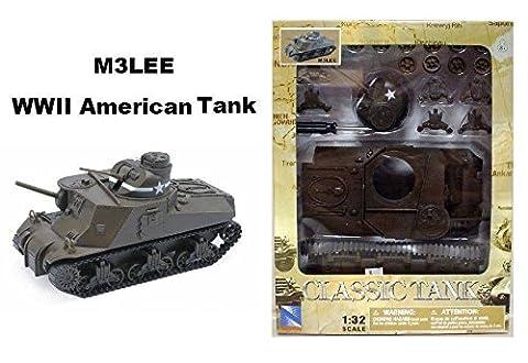 NEWRAY 1:32 CLASSIC TANK MODEL KIT - M3LEE WWII AMERICAN TANK (M3 Lee Tank Model)