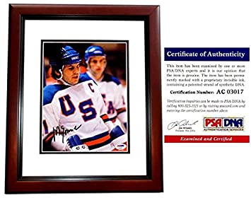 Mike Eruzione Signed - Autographed Miracle on Ice Game Winning Goal - 1980  Team USA 8x10 8439a3e2792
