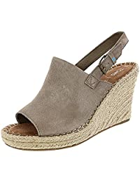 Toms Women's Desert Wedges Toffee Suede Perforated Leaf 10009743