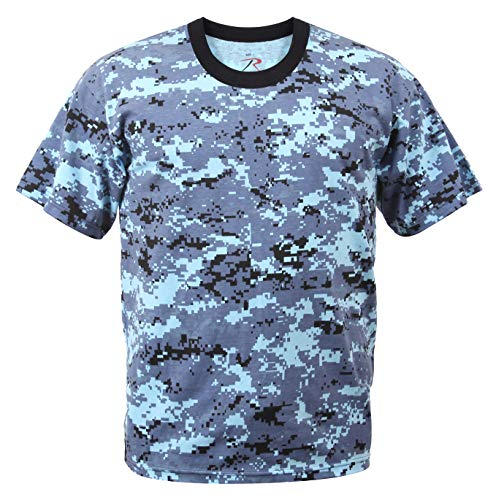 - Rothco T-Shirt, Digital Sky Blue Camo, Medium