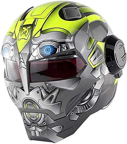ZJRA Motorrad-Sturzhelm Flip Vorderhelm DOT-ECE,3,M Erwachsene M/änner Und Frauen Racing Helm Vollvisierhelm Full Cover Personality Cool