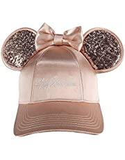 Disney Minnie Mouse Rose Gold Bling Ears Girls Adjustable Hat