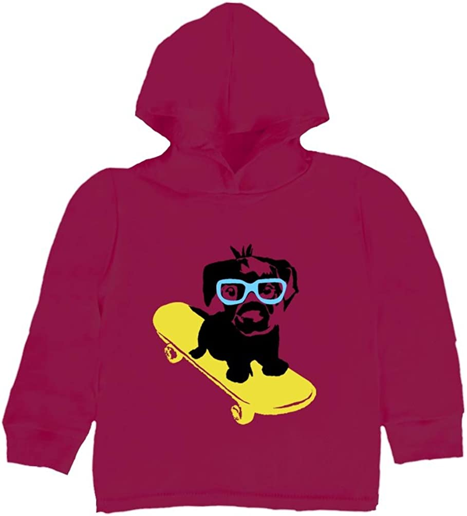 Dog on a Skateboard Inda-Bayi Baby-Toddler-Kids Cotton Hoodie T Shirt