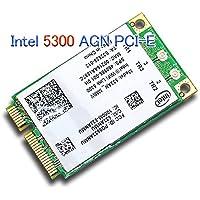 Intel WiFi Link 5300 AGN Mini PCI-E Wireless Card 802.11a/b/g/Draft-n 533AN_MMW 2.4/5.0 GHz 450 Mbps