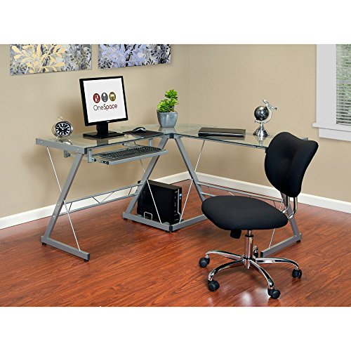 51hcGNw2LhL - OneSpace Ultramodern Glass L-Shape Desk
