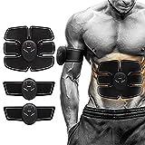 HonsCreat Massage Trainer Sticker, Abdominal Toner Belt Wireless EMS ABS Trainer Body Gym Workout Home Office Fitness Equipment for Men Women