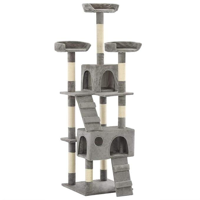 Xinglieu árbol para Gatos con rascador de sisal 170 cm Gris ...