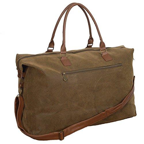 Bellemonde Travel Duffel Bag with Vegan Faux Suede | Carry On Weekender Bag