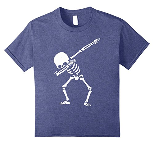 Kids Skeleton Dabbing Trendy- Easy Halloween Costume 2017 10 Heather (Spirit Halloween Womens Skeleton Costume)