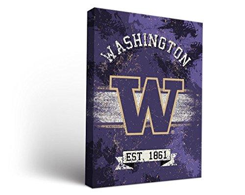 (Victory Tailgate Washington UW Huskies Canvas Wall Art Banner Design (12x12))