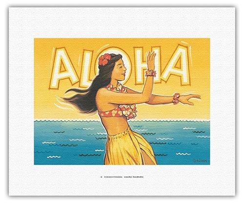 Pacifica Island Art Aloha-Hawaii Hula-Cartel del Viaje ...