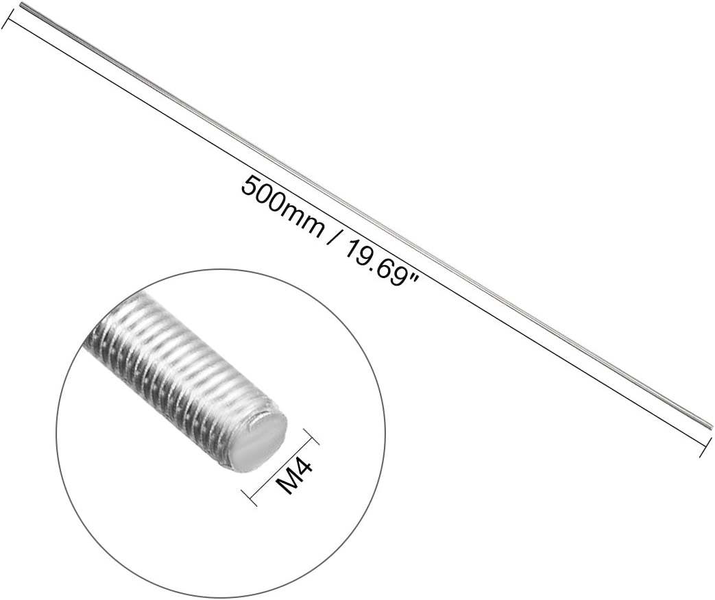 sourcingmap M3 x 250mm asta completamente filettata 304 acciaio inossidabile filettatura destrorsa
