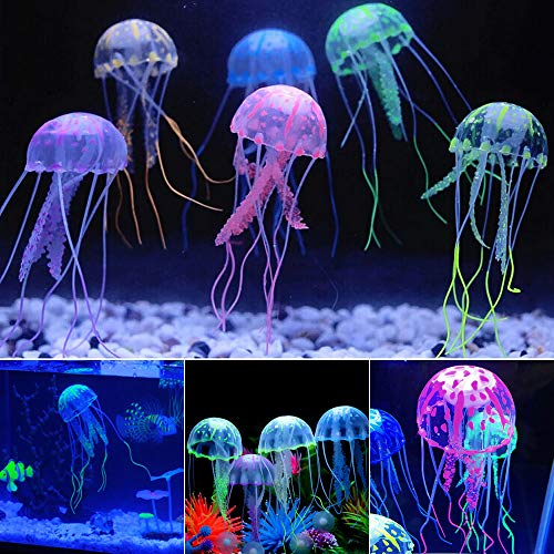 SciencePurchase 6 Pack of Floating Neon Artificial Jellyfish - Fish Tank Aquarium Decoration
