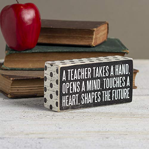 A Teacher Shapes the Future Box Sign