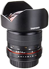 TheNEWSamyang 14mm Ultra-Wide Angle F/2. 8 IF ED UMC Lens is the highest quality affordably priced 14mm lens on the market.  It is designed for full frame cameras and is fully compatible with APS-C cameras as well.  Its build and construc...