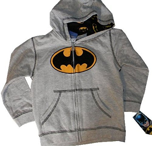 Batman Products : Dc Comics Little Boys Batman Logo Full Zip Hoodie Jacket 3T Toddler