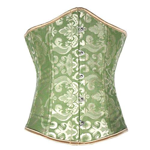 Königliche Korsett Europa Körper Weste Kleid Korsett Taille Damen Funktion Gestaltung Unterwäsche zu machen , green , xxxl