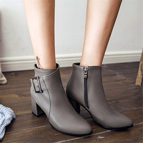 el invierno talón y gray invierno botas talón el y cortas lady's el El qFgEdOxnE