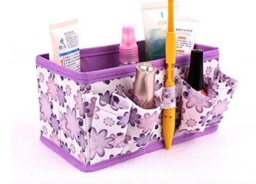 Folding Multifunction Make Up Cosmetic Storage Box Stuff Container Bag Case,purple