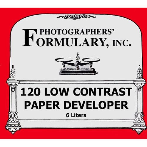 写真家' Formulary 120 Lowコントラスト用紙開発者、Makes 6ltソリューション   B0010C3PLS